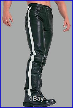 Men's Leather Pant Soft Lambskin Jeans Slim fit Casual Party Pant Tailor Made P5