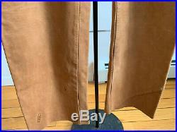 Men's Maison Martin Margiela Tobacco Nubuck Leather Trousers Pants Small