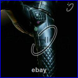Men's Real Pant Punk Leather Kink Jeans BLUF Trousers Pants Breeches Cuir Bikers
