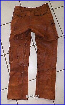 Men S Vtg Ralph Lauren Distressed Leather Cargo Style