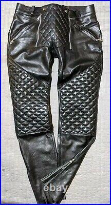 Mens BLUF 32 Sailor front leather pants