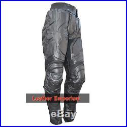 Mens Batman Dark Knight Rises Motorcycle Faux/Artificial leather Pant/Trouser