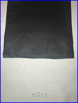 Mens Black Leather Jeans Pants Waist 32