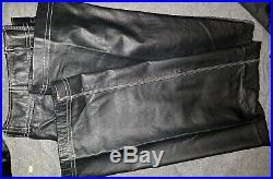 Mens Fubu Leather Pants Varsity Collection Sz 32 Waist Brand New