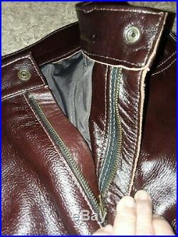 Mens Leather Biker pants. Handmade YKK zippers. Riding Roping Biking pleasure