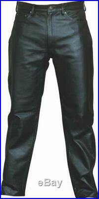 Mens Leather Pants 100% Lambskin (Jean Style)