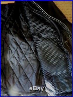 Mens U. S. Made Co Danvers MA Motorcycle Leather Jacket 44 Pants 38 Waist Black