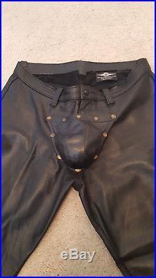 Mr S Leather Cod Piece Pants