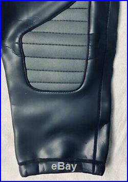 Mr. S Leather Neoprene Football Pants with Gray Accents M