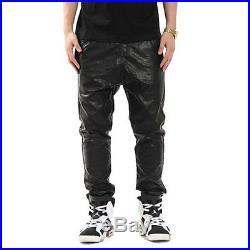 NEW LEATHER PANTS BLACK Schwarz Leder Hose Men