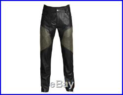 NEW Mens Versace x H&M Black genuine leather studded jeans trousers 36R 36 EU 52