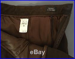 NWT $835 ROBERT COMSTOCK Men's Leather Pants, Dark Brown, 36x36, RARE, NEW
