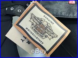 NWT Harley-Davidson Men's Motorcycle Riding Blk. Leather Biker Chaps 9848097VM