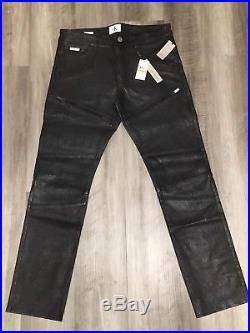 NWT Mens Calvin Klein Jeans Black Leather Pants 33 X 32