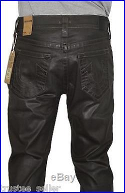 4a609406e NWT True Religion Brand Men's Dean black Jean Super Cool Leather Like Pants