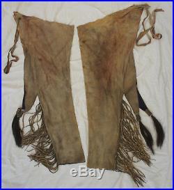 Native American Leather Chaps pants Leggings Comanche Movie Prop Lone Ranger 7