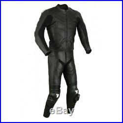 New Men, s Black Color Motorcycle Leather Suit Leather Jacket and Pants