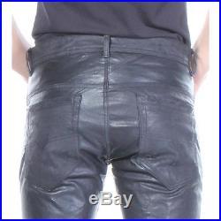 P-Thavar-Dest Diesel Leather Pants Black Men New Size 29