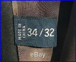 POLO Ralph Lauren Brown Suede Leather Pants Mens Sz 34/32 RARE