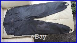 Police Black Leather Mens Motorcycle Pants 38