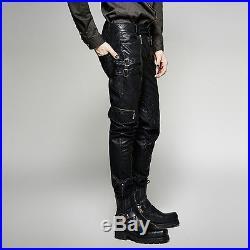 53a3b7fb661f53 Punk Rave Men's Gothic Steampunk Rock Metal Fetish Leather Look Black Pants