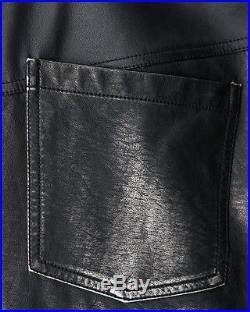 Punk Rave Mens Faux Leather Jeans Pants Black Goth Dieselpunk Spike Trousers