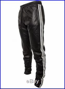 RARE Mens Jeremy Scott Adidas Yeezy Leather Pants SALES SAMPLE Designer Med L