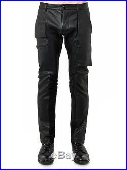 Rick Owens Mens Memphis Leather Pant Size 52