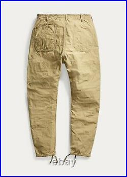 RRL Ralph Lauren Camo Reversible Jogger Canvas Leather Men's 38 W Pants