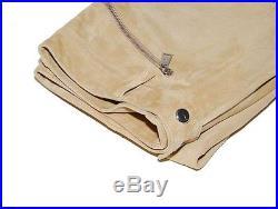 Ralph Lauren Black Label Mens Suede Leather Moto Pants Brown Beige Tan 30/32