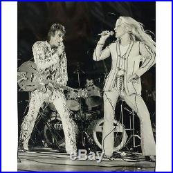 Rare Brown Men Vintage North Beach Leather Tan Braided Pants 33 32 Elvis Hot Gay