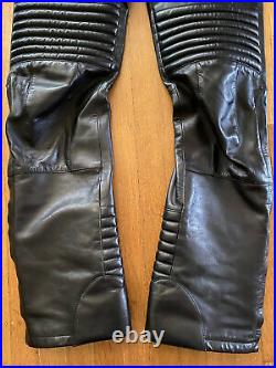 Rare vintage gucci by tom ford leather moto biker pants 2001