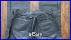 Rubio Black Leather Lined Men's Pants Zipper 5 Pocket Size 30 x 31 EUC