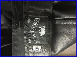 Rubio New York Mens Leather Pants Jeans 35/29, BLUF IML Gay interest