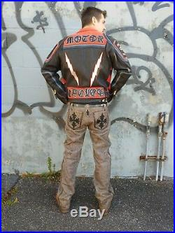 Steelo Japan Custom Leather Genuine Pants Trousers Chrome Hearts Men 31 33