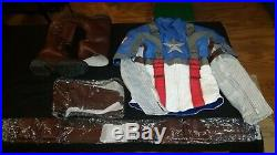 Ud Replicas Captain America First Avenger Suit Leather Jacket Pants Boots Gloves