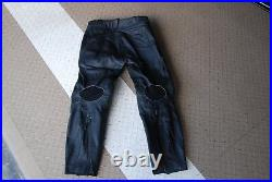 Used mens leather motorcycle pants