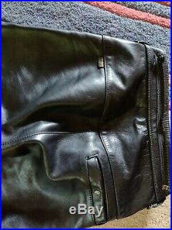 VANSON motorcycle riding leathers size M pants fits 30 to 34 size mens