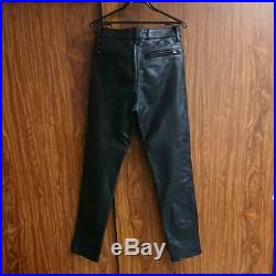 Vanson Leather Pants Men's Size 32 Black Tight Type Biker Genuine Waist 74cm