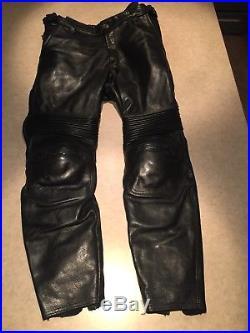 Vanson Leathers Mark 2 Mens Motorcycle Black Pants Mens Medium