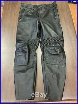 Vanson Leathers Mens Black Motorcycle Pants Size 38