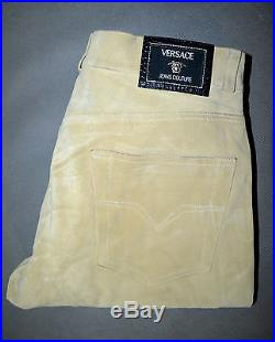 Versace Jeans Couture Suede Leather Beige Men