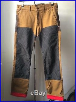 Very Cool Junya Watanabe Comme des Garçons Man leather patchworks trousers L