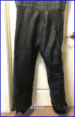 Vintage Arcticwear Arctic Cat Leather Snow Suit Pants Bibs Jacket Men's XL