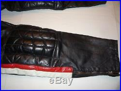 Vintage Mens Iron Horse Black Leather Motorcycle Pants Size 36 Waist USA