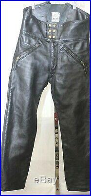 Vtg 60's Langlitz Leathers Men's Motorcycle Pants Sz. See Measurements