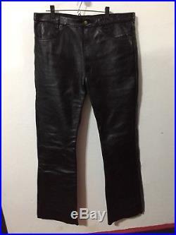 Vtg Vanson Leather Motorcycle Bootcut Pants Mens Sz 42 Talon Zipper