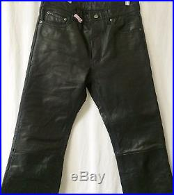 Wilson's Men's Black Genuine Leather Pants Size 32 x 34