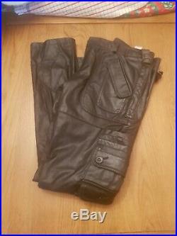 Zara Man Faux Leather Trousers Biker Skinny Jeans Pants Mens RARE LTD EDITION